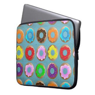 Blue Donut Lot Laptop Sleeves