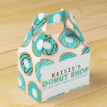 Blue Donut Shop Birthday Party Favor Box