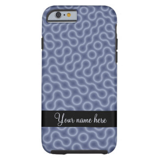 Blue Doodle Maze Personalized Tough iPhone 6 Case