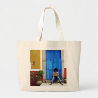 Blue Door Boy Canvas Bag