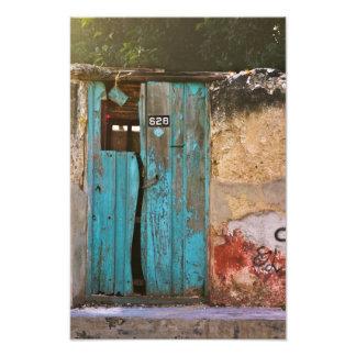 Blue Door in Merida Art Photo