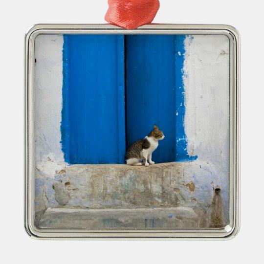 Blue door, Kairouan, Tunisia, Africa Metal Ornament