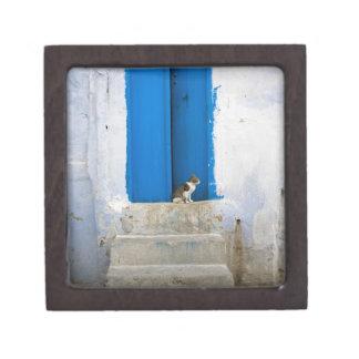 Blue door, Kairouan, Tunisia, Africa Premium Gift Box