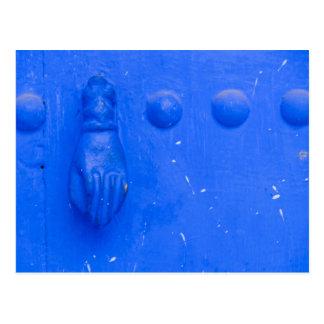 Blue Door Knocker Postcard