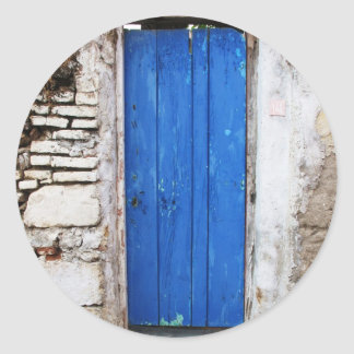 BLUE DOOR  Old Town of Chania, Crete Classic Round Sticker