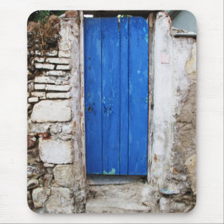 BLUE DOOR  Old Town of Chania, Crete Mouse Pad