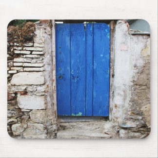 BLUE DOOR  Old Town of Chania, Crete Mousepad