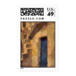 Blue Door Postage Stamp