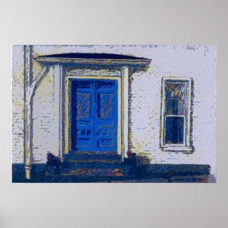 """""""Blue Doors 10.3' Poster"""