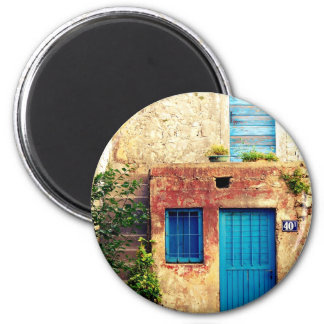 Blue-doors-321 Imán Redondo 5 Cm