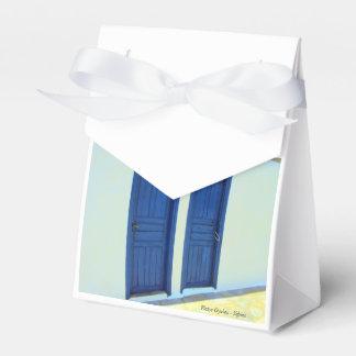 Blue doors in Platys Gyalos - Sifnos Favor Boxes
