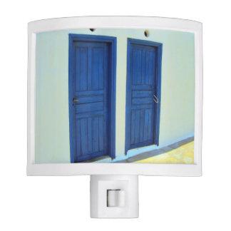 Blue doors in Platys Gyalos - Sifnos Nite Lite