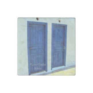 Blue doors in Platys Gyalos - Sifnos Stone Magnet