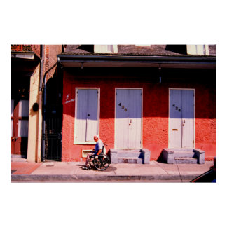 Blue doors, New Orleans Poster