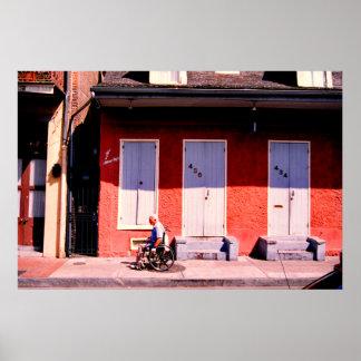 Blue doors, New Orleans Print