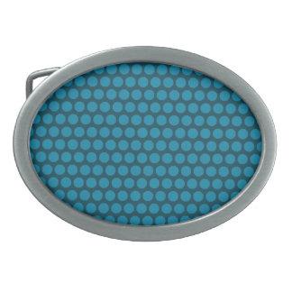 Blue Dot Blue Oval Buckle Belt Buckle