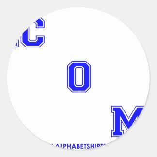 Blue dot COM Classic Round Sticker