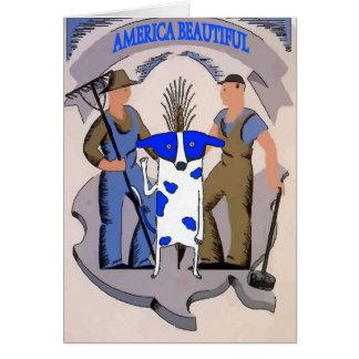 Blue Dot Dig, America Beautiful Farmland, Card