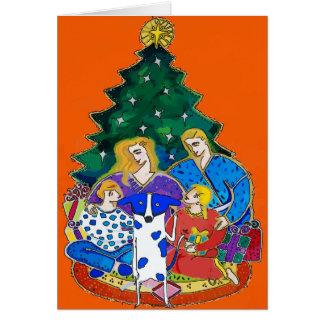 Blue Dot Dig, Christmas Family Card