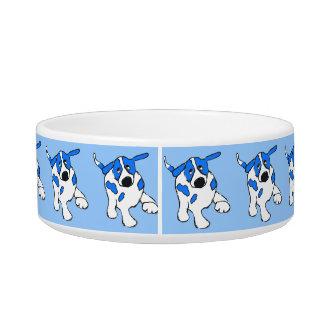 Blue Dot Dog Bowl