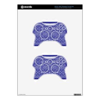 blue dot flower pattern xbox 360 controller skin