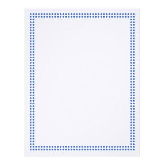 Blue Dot Frame Border Letterhead