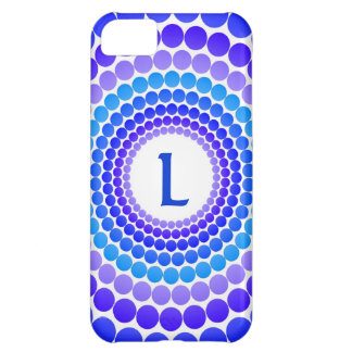 Blue Dot Monogram iPhone 5C Covers