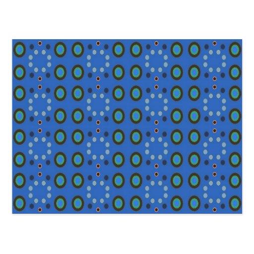 blue dot pattern post card