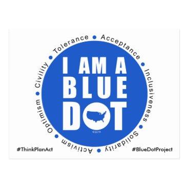 USA Themed Blue Dot Project USA Postcard
