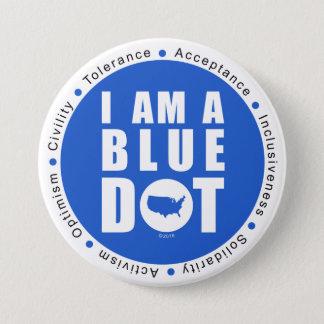 Blue Dot U.S.A Button