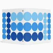 BLUE DOTS 3 RING BINDERS