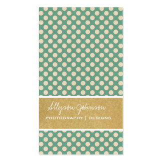 Blue Dots Background Business Cards
