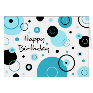 Blue Dots Business From Group Birthday Card