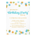 BLUE DOTS CONFETTI | KIDS BIRTHDAY INVITATION