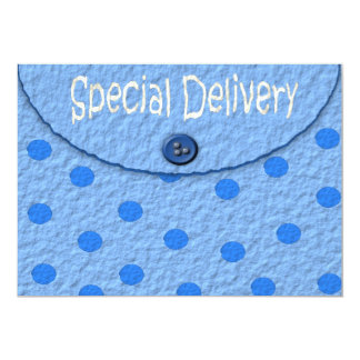 Blue Dots Envelope Boys Baby Shower Invitations