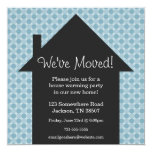 Blue  Dots House Warming Party Invitations