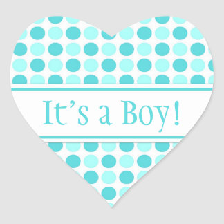 Blue Dots It's a Boy Baby Shower Stickers