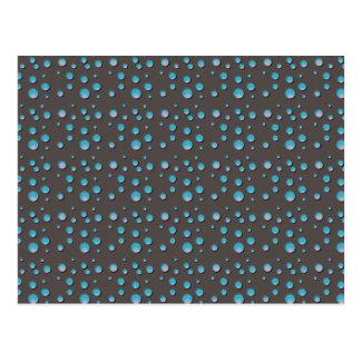 Blue Dots on Gray Postcard