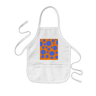 Blue dots orange base kids' apron