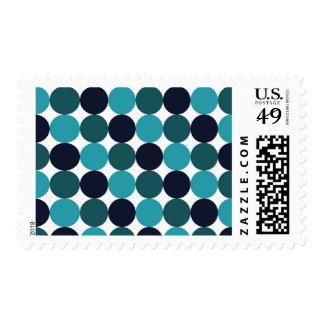 Blue Dots Postage Stamp