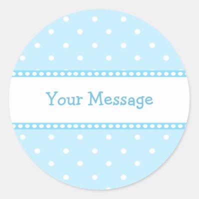 Blue  Dots Sticker