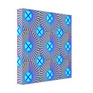 Blue Dots Stretched Canvas Print