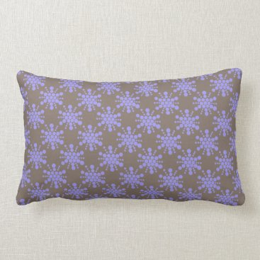 Beach Themed Blue dotted stars on chocolate brown lumbar pillow