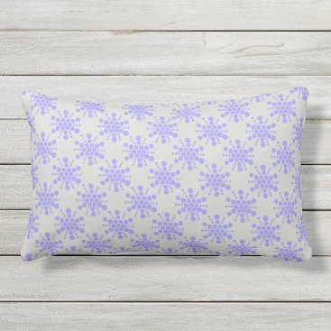 Beach Themed Blue dotted stars on pebble grey lumbar pillow