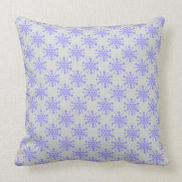 Beach Themed Blue dotted stars on pebble grey throw pillow