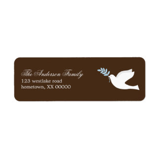 Blue Dove Address Labels