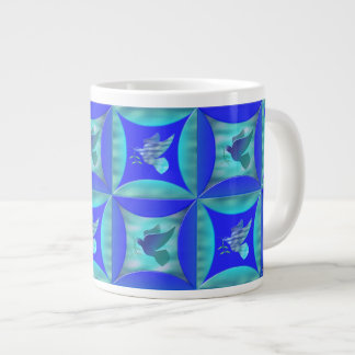 Blue Dove in the Hole in the Barn Door Large Coffee Mug