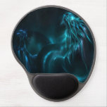 blue dragon abstract gel mouse pad