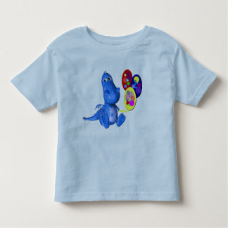 Blue Dragon And Balloons Cute Kids T-Shirt