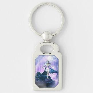 Blue dragon and fairy keychain